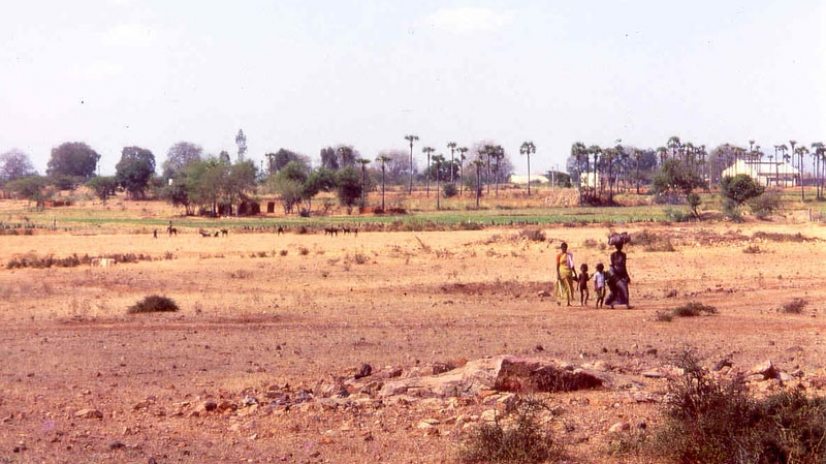 The farm in Tiru before we touched it, total waste land.