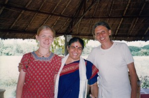 Jaman with Vandana Shiva when we were all much younger