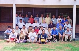 John & Jaman teaching a course to the Tibetan community in exile