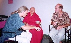 John & Jaman with Prof Rinpoche, Prime Minister of Tibetan government in exile 2003