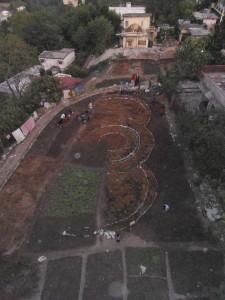 Ramana's edible garden design before planting
