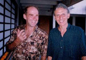 Jaman & John in a break from work